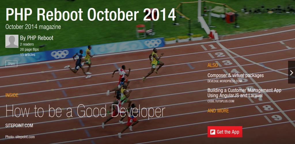 PHP Reboot October 2014 Magazine